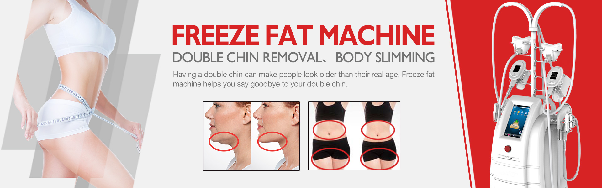 Freeze fat machine for double chin removal